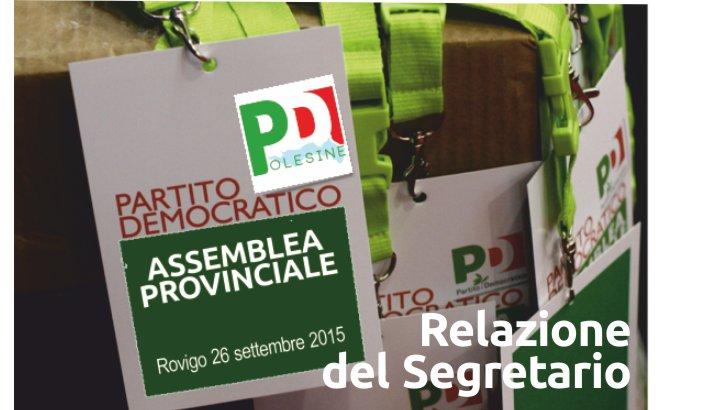 Relazione del Segretario Provinciale – Assemblea Provinciale 26 settembre 2015