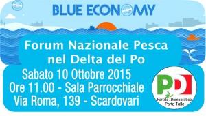 Forum nazionale delle politiche sulla pesca  – Sabato 10 ottobre ore 11.00 – Scardovari