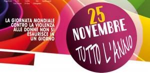 25 novembre  giornata mondiale contro la violenza delle donne