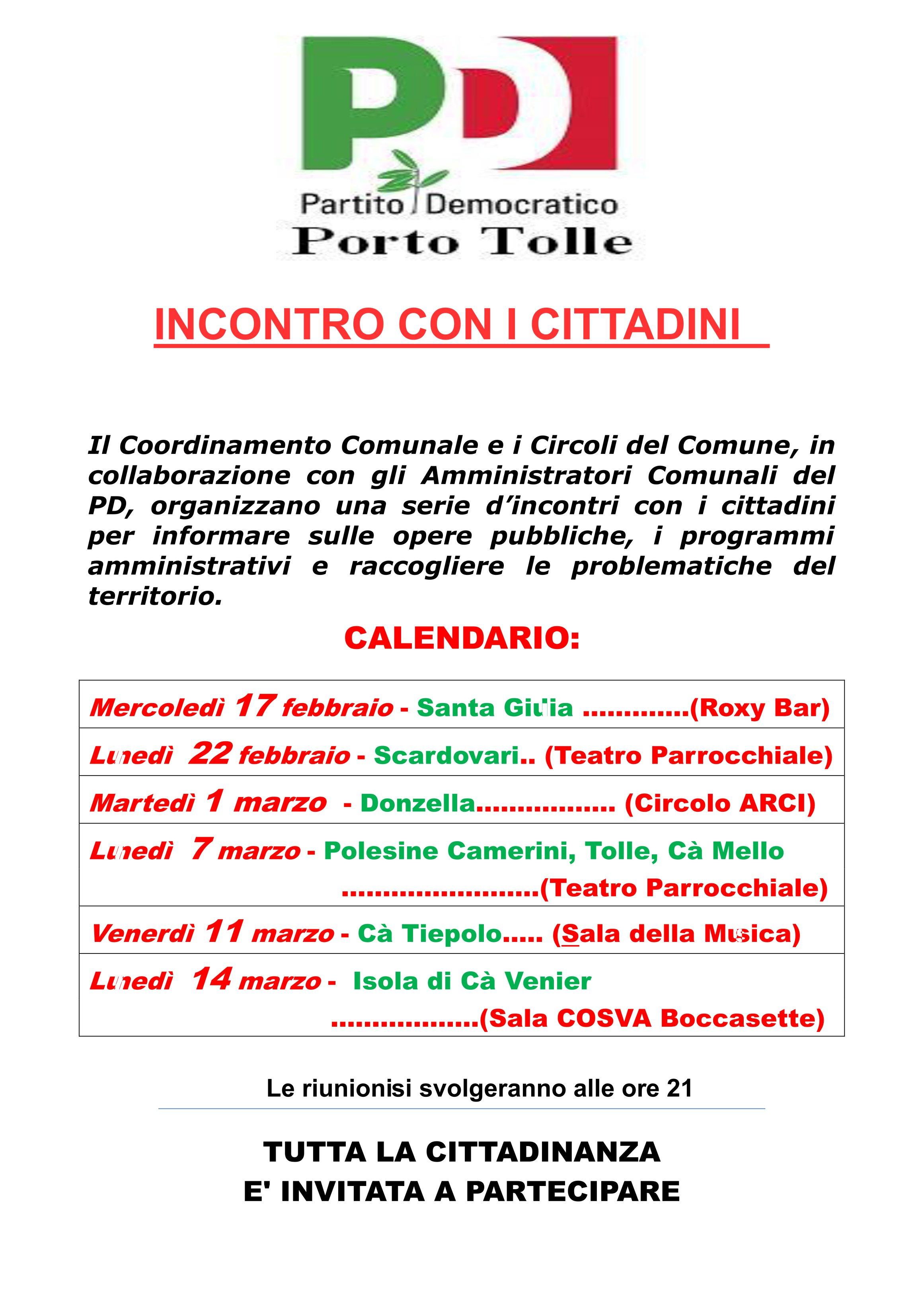Incontro con i cittadini di Porto Tolle