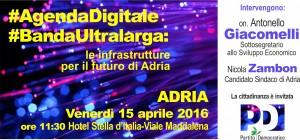 #AgendaDigitale #BandaUltralarga: le infrastrutture per il futuro di Adria