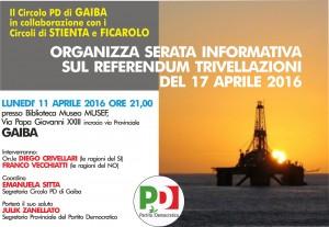 Gaiba: serata informativa sul Referendum del 17 Aprile