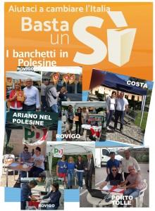 #Basta un Si'- I nostri banchetti nel Polesine
