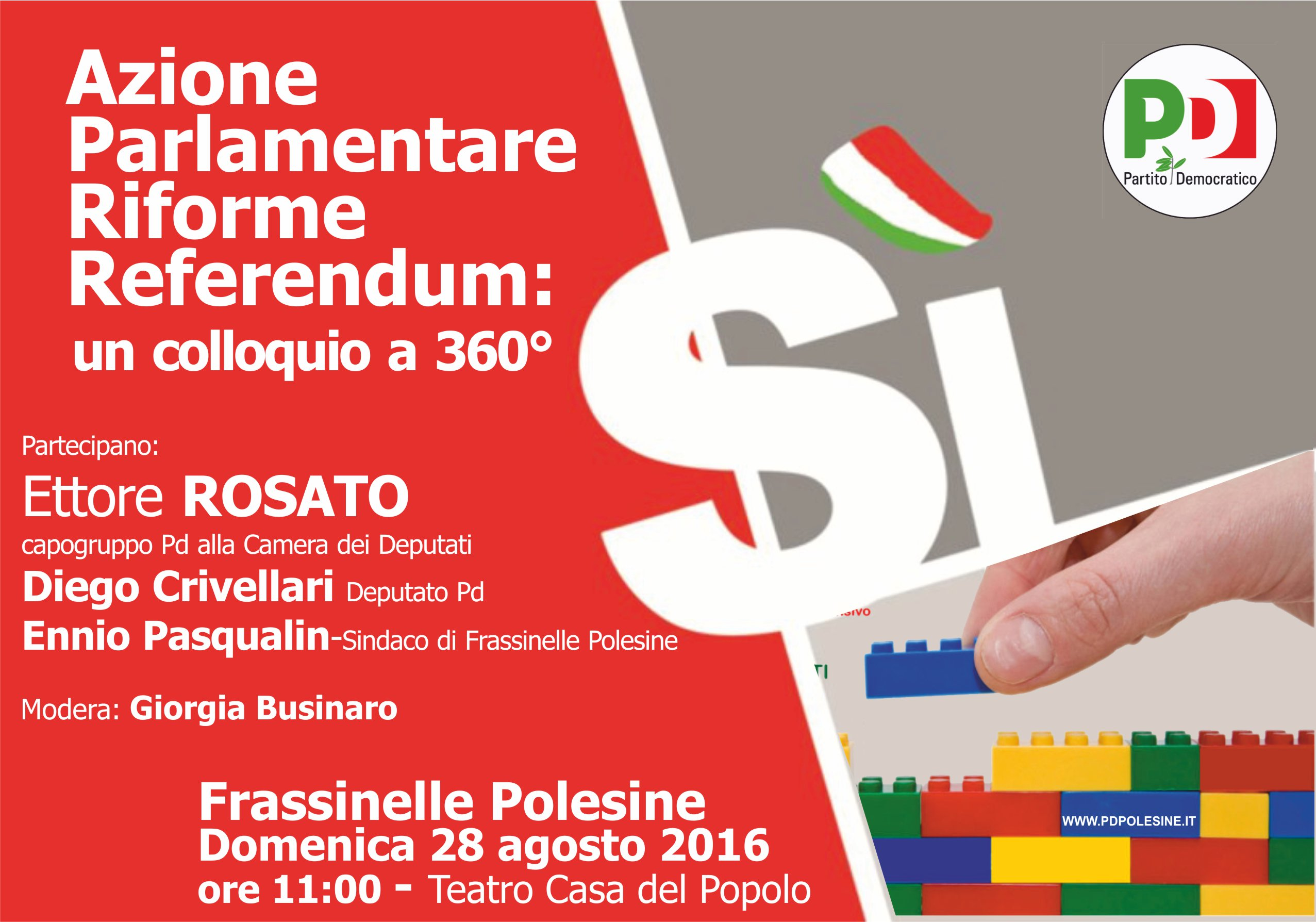 Frassinelle Polesine iniziativa con Ettore Rosato