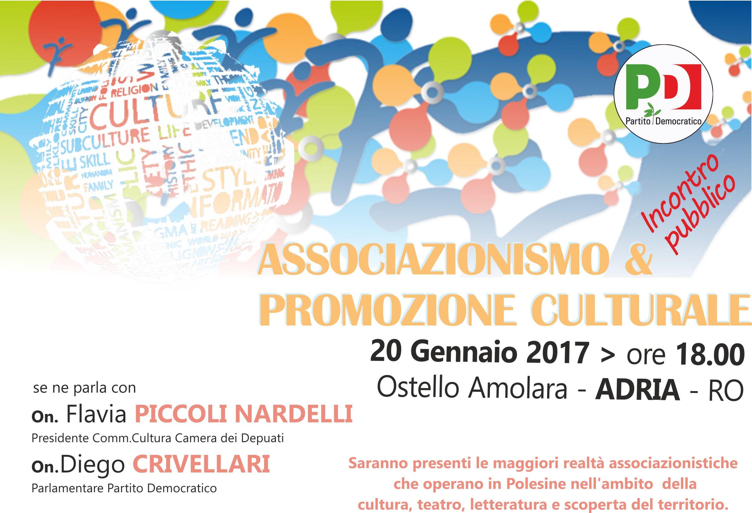 Adria: incontro pubblico su Associazionismo e Promozione Culturale