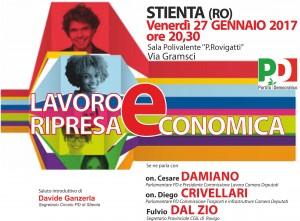 Stienta: iniziativa con Cesare Damiano