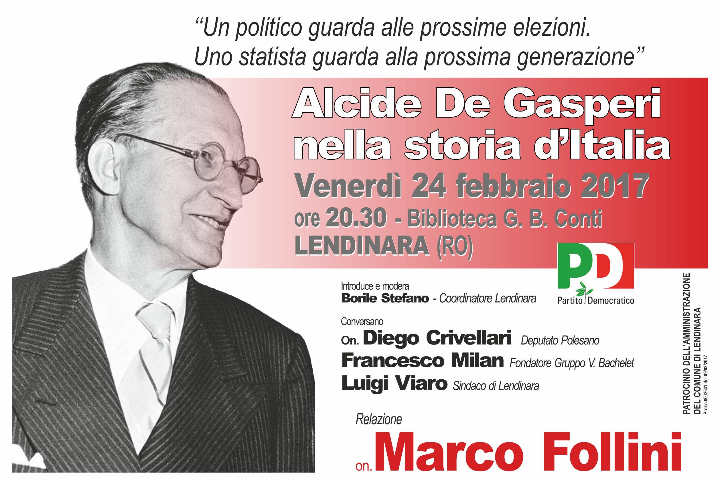 Alcide De Gasperi nella storia d'Italia