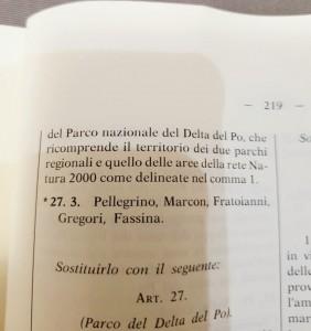 PARCO DEL DELTA, NESSUN RISCHIO DI NAZIONALIZZAZIONE