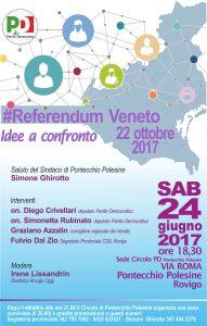 Momento politico-conviviale-sabato 24 giugno a Pontecchio Polesine