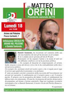 Read more about the article Ariano Polesine – 18 settembre con Orfini