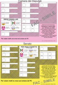 Scheda elettorale Camera – Senato