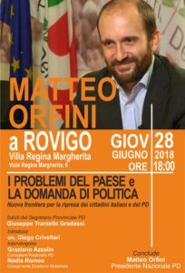 Matteo Orfini a Rovigo