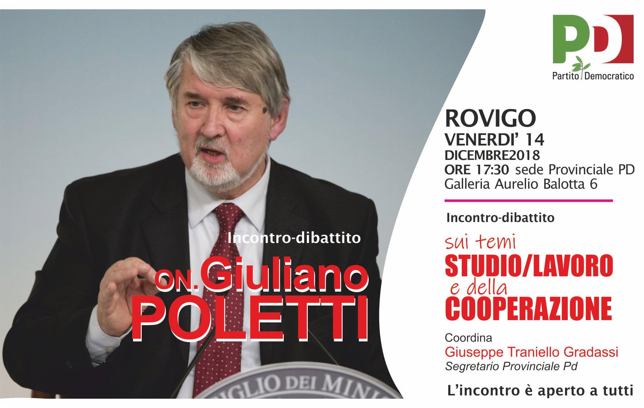 On. Poletti Giuliano a Rovigo