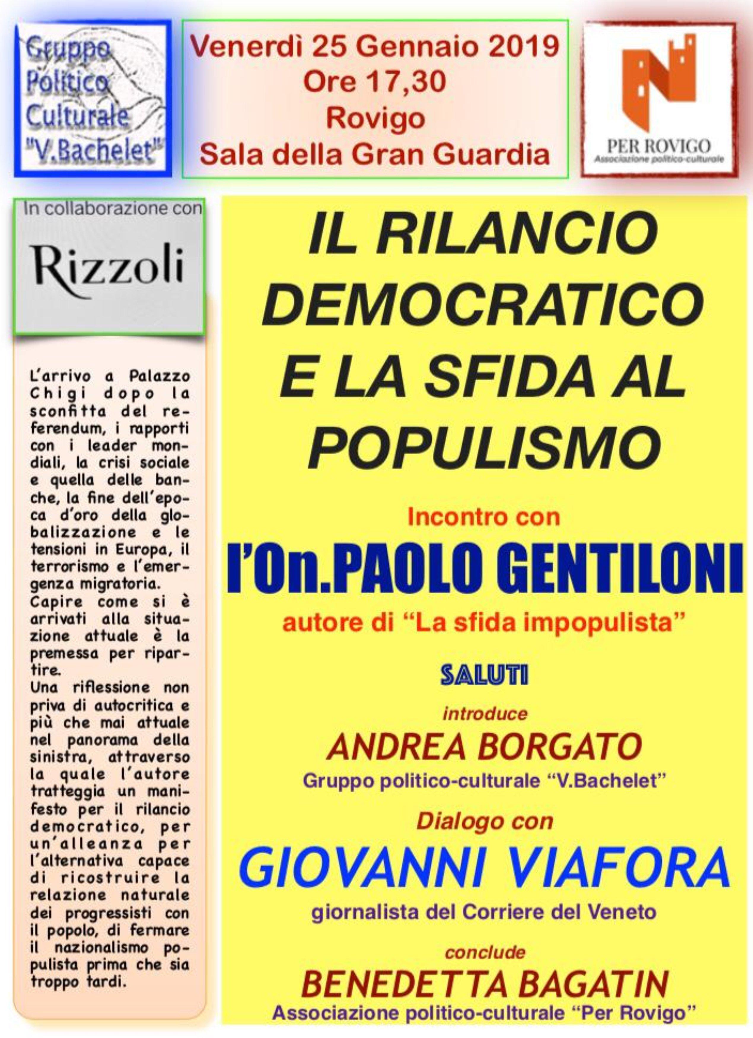 On. Paolo Gentiloni a Rovigo
