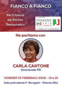 Carla Cantone a Stienta