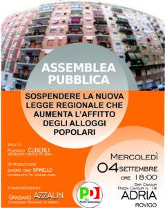ADRIA 4 settembre – Assemblea Pubblica: Aumento affitti ATER